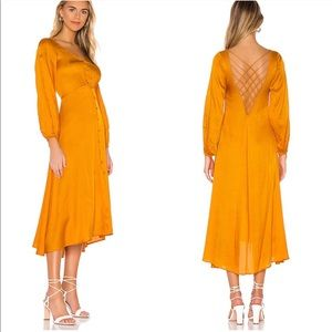 Free People Later Days Midi Dress in Tangerine 6
